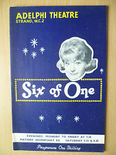 ADELPHI THEATRE PROGRAMME First Performance 1963- SIX OF ONE by William Chappell