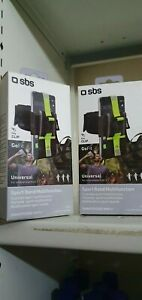 """New 2 x SBS Go Fit Sport Arm Band Universal Smart Phone 4.5""""-6"""" with key clip bn"""