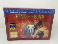 New GONE WITH THE WIND 70TH ANNIVERSARY BLU-RAY DVD COLLECTOR'S EDITION C7