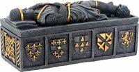Templar Knight Medieval Jewelry Trinket Box Storage Container Decoration New