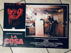 La cosa - Fotobusta Italy John Carpenter Originale Epoca The Thing