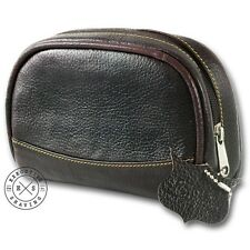 Parker Brown Leather Mini Men's Wash Bag (PKR-Wash-Bag)