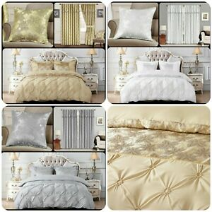 3Piece Shimmer Glitter Maya Duvet Cover Jacquard with 2 pillow case in all sizes