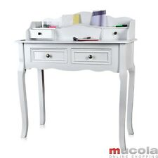 Schreibtisch im  Shabby Chic Sekretär Antik Schminktisch Landhausstil Weiß