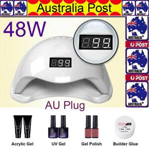 SUN5 48W 24 LED UV Nail Lamp Light Gel Polish Dryer Manicure Art Curing AU Store