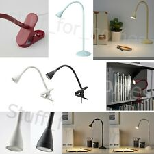 LED IKEA NAVLINGE desk task Light Clip On Lamp Flexible jansjo Spotlight UK Plug