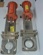 """Fabricated SS316 knife gate valve DN100 4""""in. Pneumatic actuator"""