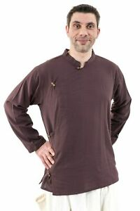 Chemise tibetaine homme ouverture laterale - Neuf