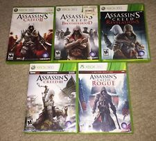 XBOX 360 5 GAME LOT ~ ASSASSIN'S CREED 2 / 3 / brotherhood / revelations / rogue