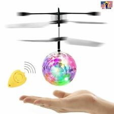 Flying Whirly Ball Planet Mars Soccer RC Infrared Induction Drone LED Flash Toy