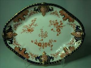 """1904 Royal Crown Derby SHALLOW SERVING DISH Imari 2712 11.25"""" by 8.5"""" Vegetable"""
