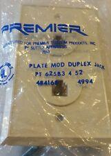 Lot of 18 Premier plate modular duplex jack b25b3-4-52