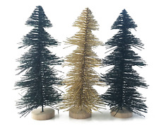Bottle Brush Christmas Trees -Choose 10 inch (3 pack) or 5.5 inch (8 pack) *New*