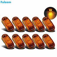 Fuleem 10 pièces ambre LED 2.5 pouces 2 Diode lumière ovale dégagement remorque