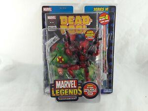 RARE Marvel Legends Deadpool Bonus 4 Comic Books Variant Toy Biz  Action Figure