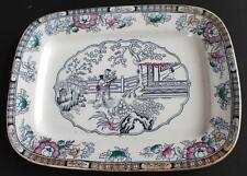"Antique 1862-1890 ASHWORTH England CHINESE Pattern 11"" Rectangular Tray Plate"
