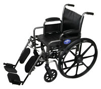 "Medline K2 Basic Wheelchair with 18""Wx16""D Seat, Elevating Legrests- MDS806300EV"