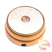New 3 LED Light Round Display Stand Base For Crystal Ball Paperweight Glass Gold