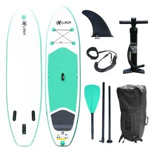 SUP EXPLORER Board Set Stand Up Paddle aufblasbar Surfboard Paddling ISUP 300