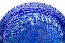 Rare Kosta Boda Scandinavian Multi-Color Heavy Art Glass Bowl Goran Warff Signed