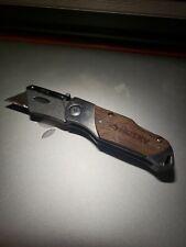 Husky Wood Handle Folding Utility Knife