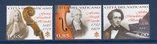 VATICAN CITY 2009 SCOTT NH 1427-29 Composers Handel Haydn Mend - FreeUSAShipping