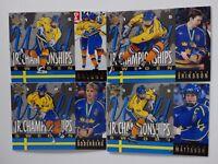 1994-95 Upper Deck UD Team Sweden JR Championships Team Set of 4 Hockey Cards
