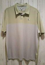 Mens Ashworth Tech Golf Shirt Color Block Stripe size 2Xl Euc
