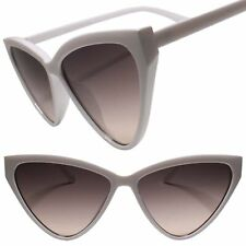 Elegant Exotic Womens Vintage Retro 50s 60s Look Cat Eye White Frame Sunglasses