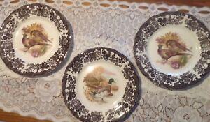 ROYAL WORCESTER- GAMES SERIES-LARGE DINNER PLATES (3)