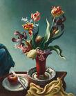 Thomas Hart Benton Still Life With Spring Flowers Canvas Print  16 x 20  #4067