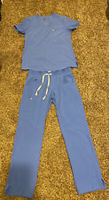 figs scrubs women small set ceil blue