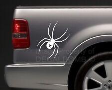 """2 large BLACK WIDOW vinyl spider decals stickers truck diesel turbo 18"""" X 10.5"""""""