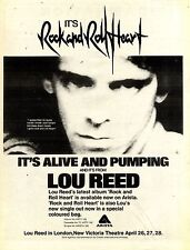 23/4/1977Pg11 Album & Tour Advert 15x10 Lou Reed rock And Roll Heart