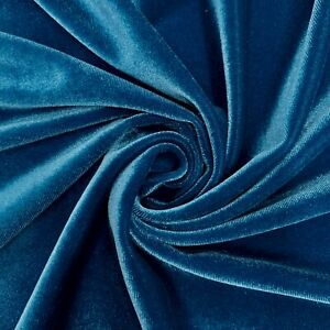 70 Colors Princess Polyester Spandex Stretch Velvet Fabric for Bows, Clothes