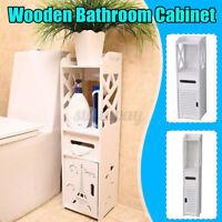 3 Styles White Bathroom Cabinet w/Doors&Shelves Cupboard Storage Unit
