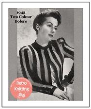 1940s Wartime Boucle Bolero Knitting Pattern - Copy