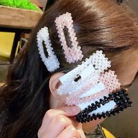 Hair Pins Snap Pearl Hair Clips Women Grips Hair Accessories Headwear Jewelry