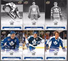 2017 UD Toronto Maple Leafs Centennial Short Prints SP 101-200 U Pick From List