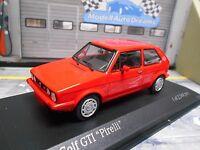 VW Volkswagen Golf GTI Facelift MKI 1 1983 Pirelli rot Sondermod Minichamps 1:43