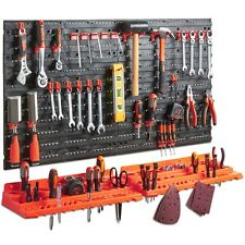 Tools Organizer Garage Wall Tool Rack Storage Kit Home Shelves 50 Hook Orange