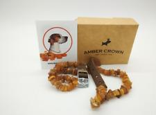 Amber Crown - Amber Necklace For Dogs With Lederschließe 45-50cm