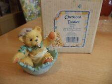 VINTAGE BOXED retired cherished teddies TEDDY BEAR ROSE BUNNY EASTER 1994 103802
