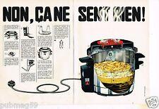 J- Publicité advertising 1970 (2 pages) La Friteuse SEB électrique Frites