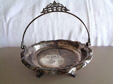 Antique Manhattan Plate Co. Brides Cake Plate / Quadruple / #562 /Floral Pattern