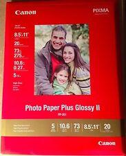 Canon 8.5''x11'' Photo Paper Plus Glossy II PP201