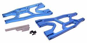 Racers Edge - X-Maxx Front/Rear Aluminum Lower Suspension Arm Set - Blue