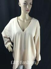 ZARA NUDE/PINK TOP WITH V-NECK AND TIE DETAIL SIZE MEDIUM (B6) REF: 0387 155