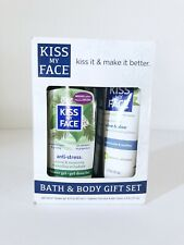 Kiss My Face Bath & Body Gift Set Anti-Stress Shower Gel And Olive & Aloe Lotion