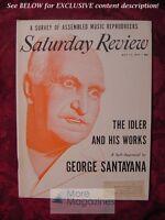 SATURDAY REVIEW May 15 1954 GEORGE SANTAYANA PULITZER PRIZES R. D. DARRELL